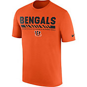 Nike Men's Cincinnati Bengals Sideline 2017 Legend Staff Performance Orange T-Shirt