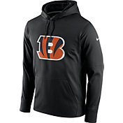 Nike Men's Cincinnati Bengals Performance Circuit Logo Essential Black Hoodie