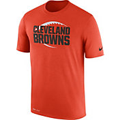 Nike Men's Cleveland Browns Legend Icon Performance Orange T-Shirt
