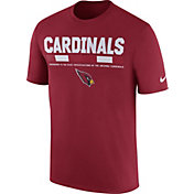 Nike Men's Arizona Cardinals Sideline 2017 Legend Staff Performance Red T-Shirt