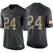 Nike Men's Home Limited Jersey New York Jets Darrelle Revis #24 Salute to Service 2016