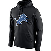 Nike Men's Detroit Lions Performance Circuit Logo Essential Black Hoodie