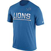 Nike Men's Detroit Lions Practice Blue T-Shirt