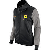 Nike Women's Pittsburgh Pirates Black/Grey Full-Zip Track Jacket