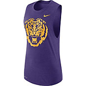 Nike Women's LSU Tigers Purple Logo Muscle Performance Tank Top