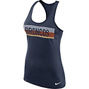Nike Women's Denver Broncos Dri-FIT Touch Performance Navy Tank Top