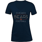 New Era Women's Chicago Bears Rhinestone Navy T-Shirt