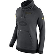 Nike Women's New York Jets Salute to Service 2016 Rally Funnel Neck Pullover