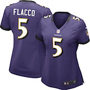 Nike Women's Home Game Jersey Baltimore Ravens Joe Flacco #5