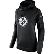 Nike Women's Pittsburgh Steelers Therma-FIT Black Performance Hoodie