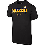 Nike Youth Missouri Tigers Black Core Facility Football Sideline T-Shirt
