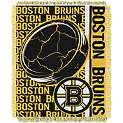 Northwest Boston Bruins Double Play 48 in x 60 in Jacquard Woven Throw Blanket
