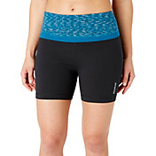 Reebok Women's Printed High Waist Stretch Cotton 5'' Shorts