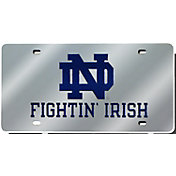 Rico Notre Dame Fighting Irish Silver Laser Tag License Plate