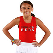 Soft As A Grape Youth Girls' Cincinnati Reds Red Tank Top