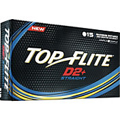 Top Flite D2+ Straight Golf Balls – 15 Pack
