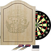 Trademark Games King's Head Dartboard Cabinet Set