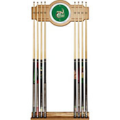 Trademark Games UNC-Charlotte 49ers 2-Piece Wood and Mirror Wall Cue Rack