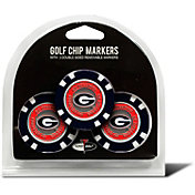 Team Golf Georgia Bulldogs Poker Chips Ball Markers - 3-Pack
