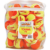 Tourna Kids' Stage 2 Low Compression Tennis Balls - 50 Pack