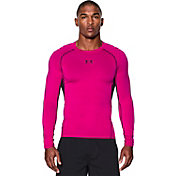Under Armour Men's Power In Pink HeatGear Armour Compression Long Sleeve Shirt