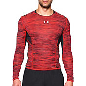 Under Armour Men's HeatGear CoolSwitch Twist Print Compression Long Sleeve Shirt