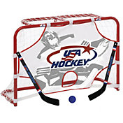 "USA Hockey 32"" Mini Hockey Goal, Sticks, Ball, and Target Set"