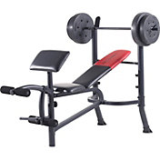 Weider Pro 265 Standard Weight Bench and Weight Combo Pack