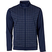 Walter Hagen Men's Windowpane Full-Zip Golf Rain Jacket