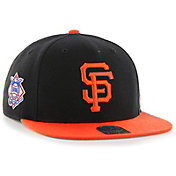 '47 Men's San Francisco Giants Sure Shot Captain Black Adjustable Snapback Hat