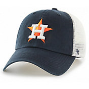 '47 Men's Houston Astros Blue Hill Closer Navy Fitted Hat