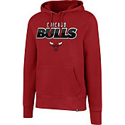 '47 Men's Chicago Bulls Red Pullover Hoodie