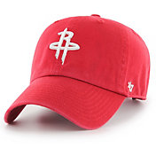 '47 Men's Houston Rockets Red Clean Up Adjustable Hat