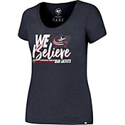'47 Women's 2017 NHL Stanley Cup Playoffs Columbus Blue Jackets Navy T-Shirt