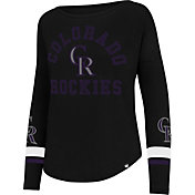 '47 Women's Colorado Rockies Black Long Sleeve Crew