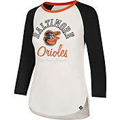 '47 Women's Baltimore Orioles Splitter Raglan Three-Quarter Sleeve Shirt