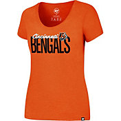 '47 Women's Cincinnati Bengals Foil Orange T-Shirt