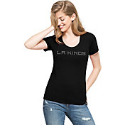 '47 Women's Los Angeles Kings Black Scoop Neck T-Shirt
