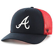'47 Youth Atlanta Braves Barlow Captain Grey Adjustable Snapback Hat