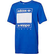 adidas Originals Boys' Mesh Box Logo T-Shirt