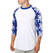 adidas Men's Triple Stripe ¾ Sleeve Baseball Shirt