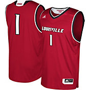 adidas Men's Louisville Cardinals #1 Cardinal Red Replica Basketball Jersey