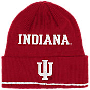 adidas Men's Indiana Hoosiers Crimson Cuffed Knit Beanie