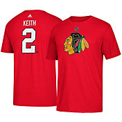 adidas Men's Chicago Blackhawks Duncan Keith #2 Red T-Shirt