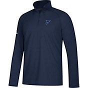adidas Men's St. Louis Blues Secondary Logo Ultimate Navy Performance Quarter-Zip Pullover