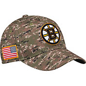 adidas Men's Boston Bruins Camo Structured Fitted Flex Hat