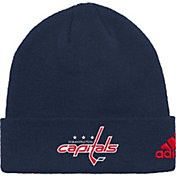 adidas Men's Washington Capitals Basic Navy Knit Beanie