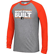 adidas Men's Philadelphia Flyers Dassler Local Ultimate Grey/Orange Performance Long Sleeve Shirt