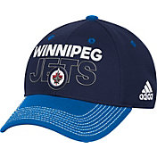 adidas Men's Winnipeg Jets Locker Room Navy Structured Fitted Flex Hat