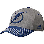 adidas Men's Tampa Bay Lightning Two-Color Heather Grey/Navy Snapback Adjustable Hat